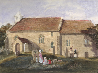 Bedhampton, St Thomas à Becket<br />(© Portsmouth Museum & Records Service 1945/419/3)