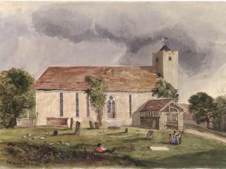 Chalton St. Michael's<br />(© Portsmouth Museum & Records Service 1945/419/10)