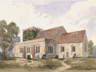 Church Oakley, St. Mary<br />(© Portsmouth Museum & Records Service 1945/419/11)