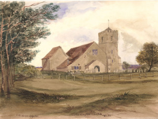 Catherington, All Saints<br />(© Portsmouth Museum & Records Service 1945/419/9)