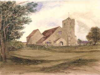 Catherington, All Saints<br />(© Portsmouth Museum & Records Service 1945/419/9)
